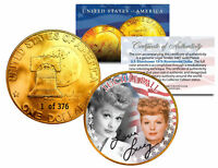 1976 LUCILLE BALL 24K Gold Plated IKE Dollar *Each Coin Serial Numbered of 376*