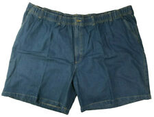 Harbor Bay Mens Jean Shorts Big And Tall Blue 5XL