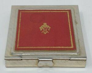 Vintage Art Deco Brass Matchbook Case Engine Turned With Vintage Matches