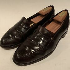 Alden Shell Cordovan Full Strap Penny Loafers 684 Brown USA - Men's 10.5 B / D