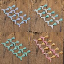 10 Pcs Charm Mermaid Tail Enamel Pendants Jewelry Antique Multicolor DIY Crafts