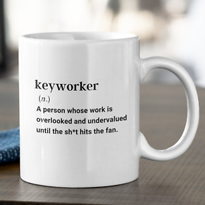 Definition of a Key Worker Fun Mug Gift Care Home Staff Gift