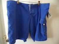 BNWT ZELOS WOMENS LADIES BLUE BOARD SWIM SHORTS USA SIZE 16 MADE IN CALIFORNIA