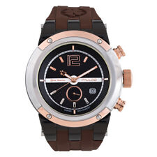 Mulco Blue Marine Brown Rubber Band Unisex Swiss Quartz Watch MW5-1621-035
