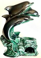"""Rare Poole Pottery """"Dolphins"""" 12""""/30cm Tall Incense Burner In Perfect Condition"""