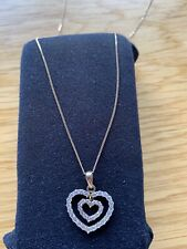 9ct Gold Necklace Pendant With Cubic Zirconia Heart