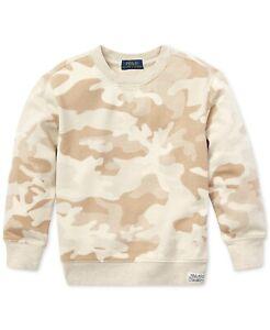 NWT Ralph Lauren Polo Little Boys Camo Twill Terry Sweatshirt 6