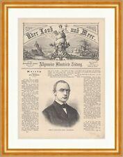 Professor Dr. Friedrich Theodor Frerichs Deutscher Arzt Augen Holzstich E 18596