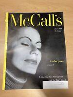1951 June McCALL'S Magazine Greta Garbo