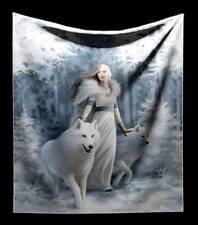 Câlin Couverture avec loup - hiver gardien - fantasy gothic déco par Anne Stokes