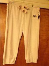 NFL Baltimore Ravens Gray Capri Sweat Sleepwear pants  Womens Size L - NWT