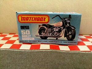 Matchbox Lesney Superfast No.50 Harley Davidson EMPTY Repro Box Only  NO BIKE