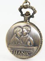 Titanic Pocket Watch Rose & Jack Leonardo DiCaprio Kate Winslet Film Classic UK