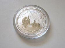 1/2 oz 2011 Australian Lunar Rabbit .999 Fine Silver