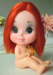 ~ Vintage KAMAR Doll Japan Red Hair * Big Eye * Pre-Blythe 1968 ~