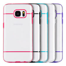 For Samsung Galaxy S7 - Hard TPU Rubber Transparent Gummy Candy Skin Case Cover