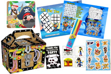 15 x Pre Filled Boys Pirate Party Box - Parties Theme Activity Gift Bag Bags