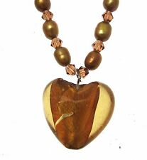 Beaded Necklace Necklaces For Women Heart Necklace Gold Heart Necklace INV015