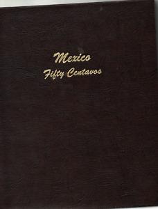 MEXICO - 50 CENTAVOS PARTIAL SET IN A DANSCO (#7225) ALBUM - NO SILVER