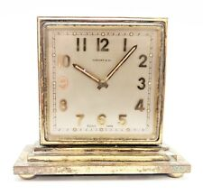 Vintage Tiffany & Co. Concord Gilt-Brass Double-Dialed Eight-Day Desk Clock #219