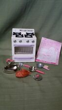Tyco Kitchen Littles Deluxe Stove with all its Original Accessories/Manual #2038
