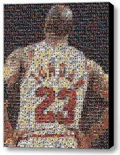 Framed Michael Jordan Jersey Card Mosaic 9X11 Limited Edition Art Print w/COA