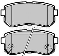 Borg & Beck Disc Brake Pad Set Pads BBP2104 - GENUINE - 5 YEAR WARRANTY