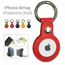 For Apple AirTag Luxury Leather Case Cover AirTags Location Tracker Sleeve Shell