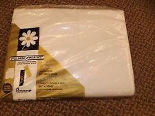 Vtg 70s NEW NOS Penneys White No Iron 50/50 Percale Double Bed 81x108 Flat Sheet