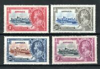 "Antigua 1935 Silver Jubilee set 1s is ""dot by flagstaff"" variety MH"