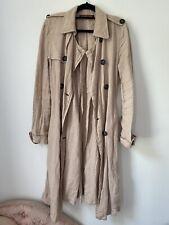 comptoir des cotonniers dusky pink linen trench coat Size 36