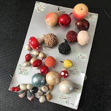 LOT ELEMENTS COUTURE Vintage Fruits Champignons Miniature 1950 SEWING SET