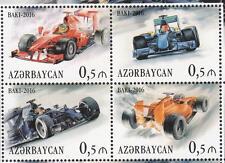 Cars Formula 1 Azerbaijan MNH ** 2016 mi.1159-1162 ZD Race in Baku