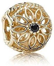 PANDORA 14CT GOLD BLACK DIAMOND OPENWORK CHARM