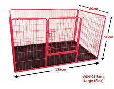Heavy Duty Extra Large Rose Animal Chien Chiot Jeu Stylo mise bas enclos Run Cage