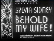 BEHOLD MY WIFE 1934 Sylvia Sidney, Gene Raymond