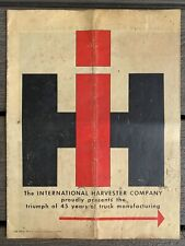 New ListingVtg 1950s International Harvester Trucks Brochure 45 Years Of Manufacturing