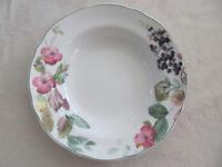 Charter Club Wild Flowers -Flowers & Fruit - Rim Soup Bowl(s)- 12 Avail