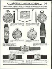 1931 ADVERTISEMENT Ulysse Nardin Zenith Wrist Pocket Watch Watches