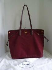 067ac628eb8d Prada Tessuto Saffian Nylon 2-Way Tote Bag BR4662 Burgundy Bordeaux Color