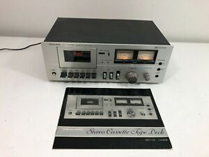 Vintage REALISTIC SCT-19 3 Stereo Cassette Deck w/ Instructions WORKS!