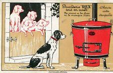 Carte Pub Buanderie REX tour en acier Illustré Chien et cochons