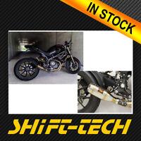 ST1616 DUCATI MONSTER 1100 EVO GP SLIPON EXHAUST RACING -- FREE UPGRADE BLACK
