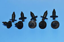 10 X CITROEN C1 / C2 Plastica Nera Rivetto TYPE BODY Trim Pannello Fastener Clips