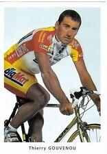 CYCLISME carte cycliste THIERRY GOUVENOU équipe BIG MAT AUBER 93