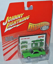 Musclecars 1969 - 1969 AMC AMX - lime green - 1:64 Johnny Lightning