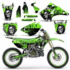 Graphics Kit Wrap for Kawasaki KX125 KX250 2003-2016 Dirtbike MX Decal REAP GRN