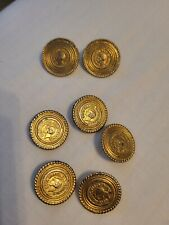 """More details for  rare chanel vintage gold """" coco chanel  7 pieces button"""