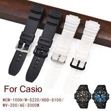Banda de reloj para Casio MCW-100H/110 H/W-S220/HDD-S100 WV-200/AE-2000/2100
