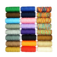 24 Spools Assorted Colors Polyester Sewing Quilting Threads Set All Purpose